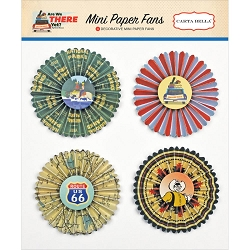 Carta Bella - Are We There Yet? Collection - Mini Paper Fans