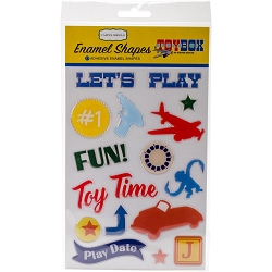 Carta Bella - Toy Box Collection - Enamel Shapes