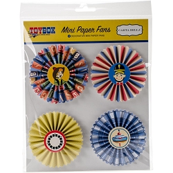 Carta Bella - Toy Box Collection - Mini Paper Fans