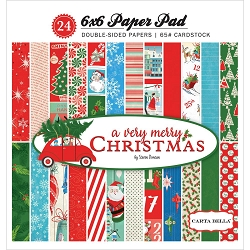 Carta Bella - A Very Merry Christmas Collection - 6x6 Paper Pad