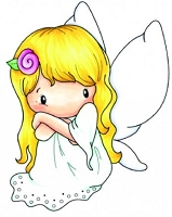C.C. Designs - Cling Mounted Rubber Stamp - Swiss Pixie Fairy Abigail