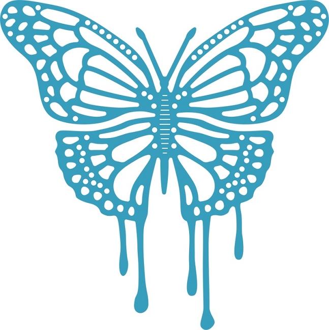 Cheery Lynn Designs Cutting Die Dripping Butterfly