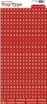 Cosmo Cricket Tiny Type Stickers - Letters Red