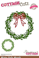 Cottage Cutz - Dies - Winter Holly Wreath