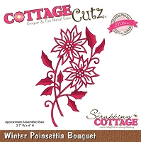 Cottage Cutz - Dies - Winter Poinsettia Bouquet