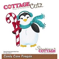 Cottage Cutz - Die - Candy Cane Penguin