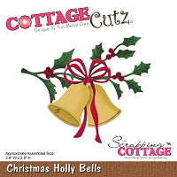Cottage Cutz - Die - Christmas Holly Bells