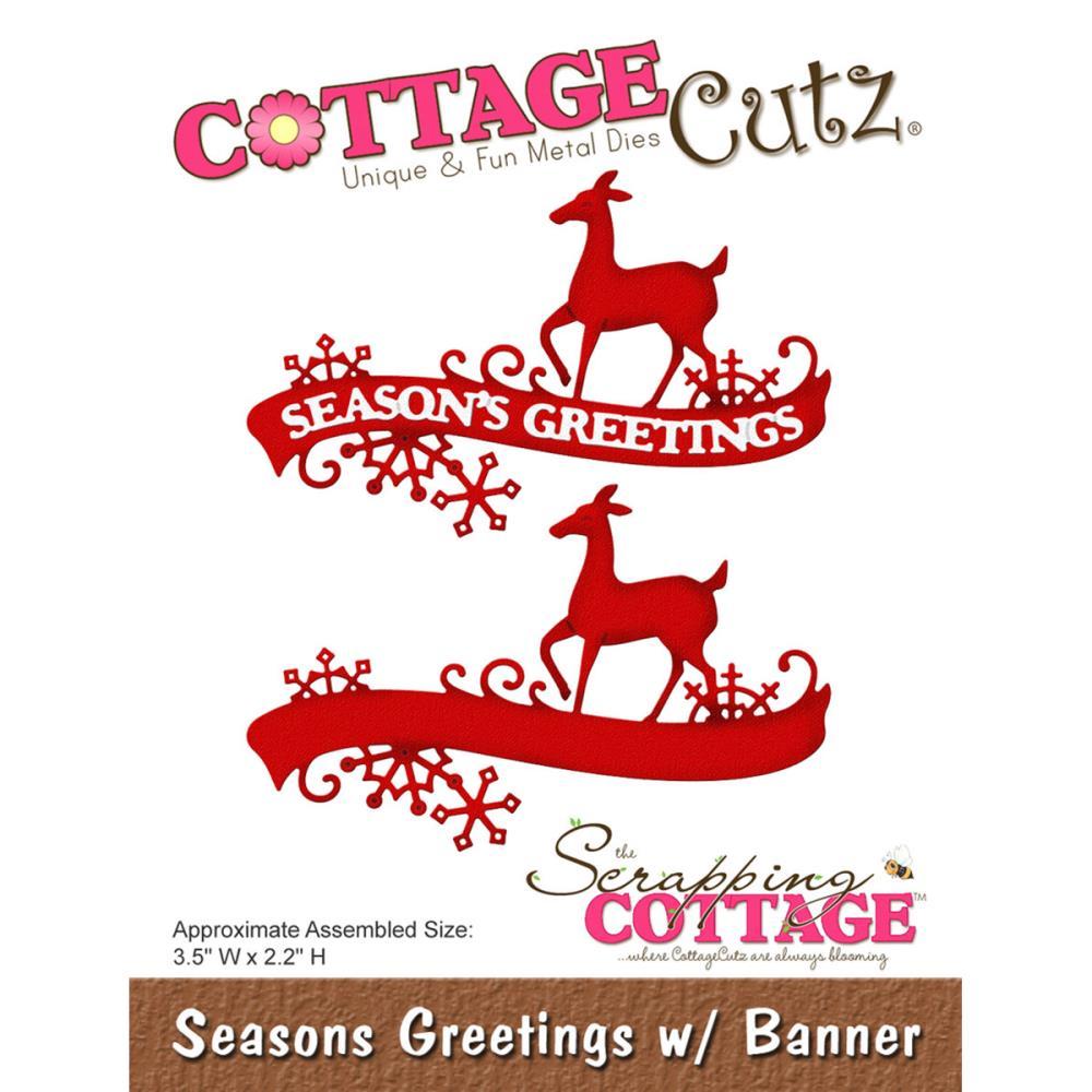 Cottage cutz die seasons greetings w banner kristyandbryce Choice Image
