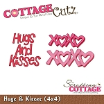 Cottage Cutz-4x4 Dies-Hugs & Kisses