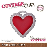 Cottage Cutz- Valentine Series-4x4 Die-Heart Locket