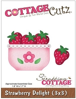 Cottage Cutz - 3x3 Dies - Strawberry Delight