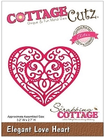 Cottage Cutz - Dies - Elegant Love Heart