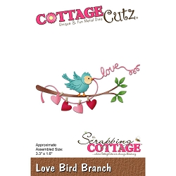 Cottage Cutz - Die - Love Bird Branch