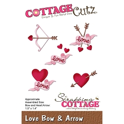 Cottage Cutz - Die - Love Bow & Arrow