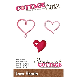 Cottage Cutz - Die - Love Hearts