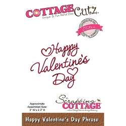 Cottage Cutz - Die - Happy Valentine's Day Phrase