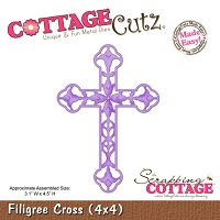 Cottage Cutz-4x4 Dies- Filigree Cross
