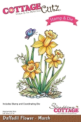 Cottage Cutz - Clear Stamp & Die Set - Daffodil Flower March