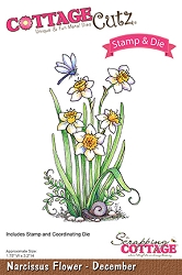 Cottage Cutz - Clear Stamp & Die Set - Narcissus Flower December