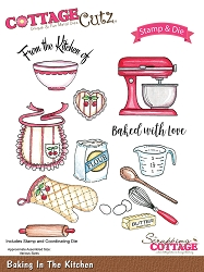 Cottage Cutz - Clear Stamp & Die Set - Baking in the Kitchen