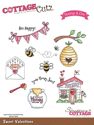 Cottage Cutz - Clear Stamp & Die Set - Sweet Valentines