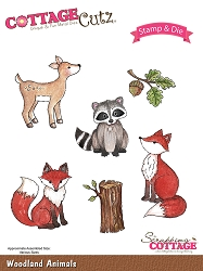 Cottage Cutz - Clear Stamp & Die Set - Woodland Animals