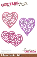 Cottage Cutz - 4x6 Dies - Filigree Hearts