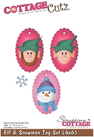 Cottage Cutz - Die - Elf & Snowman Tag Set