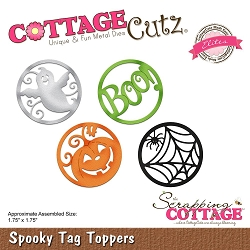 Cottage Cutz - Die - Spooky Tag Toppers (Elite)