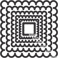 Couture Creations - Nesting Die - (Set of 6)  - Scallop Square