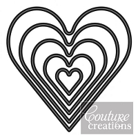 Couture Creations - Nesting Die - (5 piece) Hearts