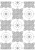 Couture Creations - Embossing Folder - Art Nouveau Collection - ( 5