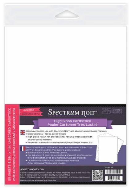 Crafter's Companion - Spectrum Noir Cardstock (for use with alcohol inks)