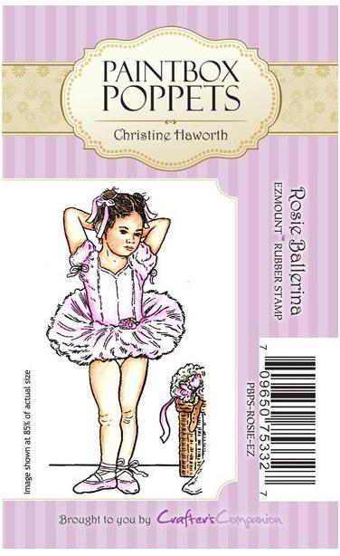 Paintbox Poppets Ezmount Stamp Rosie Ballerina