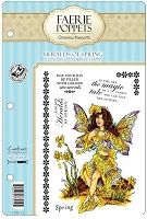 Faerie Poppets by Christine Haworth - EZMount Cling Stamp Set - Heralds of Spring