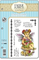 Faerie Poppets by Christine Haworth - EZMount Cling Stamp Set - Toadstool Faerie