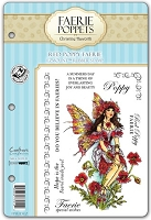 Faerie Poppets by Christine Haworth - EZMount Cling Stamp Set - Red Poppy Faerie