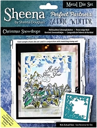 Crafter's Companion - Metal Die - Scenic Winter Christmas Snowdrops