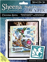 Crafter's Companion - Metal Die - Scenic Winter Christmas Robin