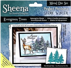 Crafter's Companion - Metal Die - Scenic Winter Evergreen Trees
