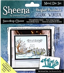 Crafter's Companion - Metal Die - Scenic Winter Snowdrop Cluster
