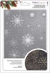 Crafter's Companion - 3D Embossing Folder Sparkling Snowflake