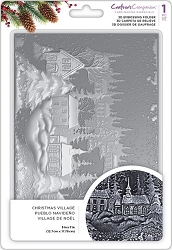 Crafter's Companion - 3D Embossing Folder Christmas Village