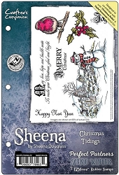 Crafter's Companion - Rubber Stamps - Scenic Winter Christmas Tidings