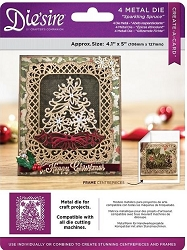 Crafter's Companion - Metal Die - Die'Sire Create-A-Card Sparkling Spruce