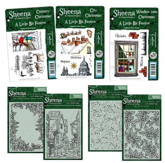 Sheena Douglas - Festive Collection stamps & embossing folders