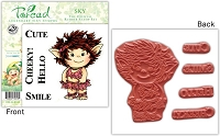 Stampworkz - Toreads - EZMount Rubber Stamp Set - Sky