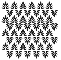 The Crafters Workshop - 12x12 Template - Indian Leaves