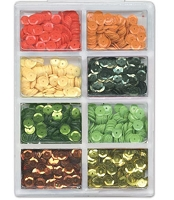 Craft Medley - Sequins - Citrus Assortment (7mm)