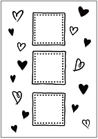 Crafts-too Embossing Folder - Hearts and Frame (A2)